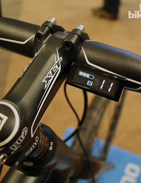 At the time of their 2012/13 launch, Shimano were still tweaking the design of their digital gear display (SC-S705)