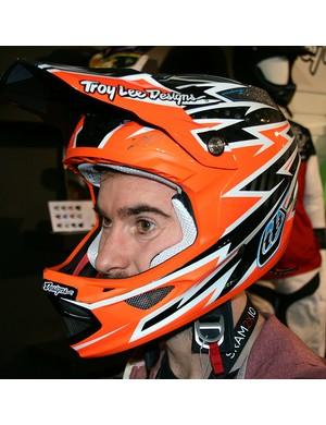 Troy Lee D3 Zap Orange helmet