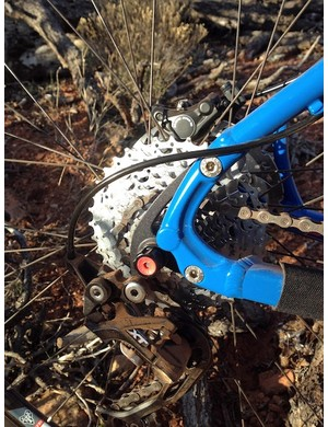 The swinging bolt-on dropouts can be configured for geared or singlespeed duty