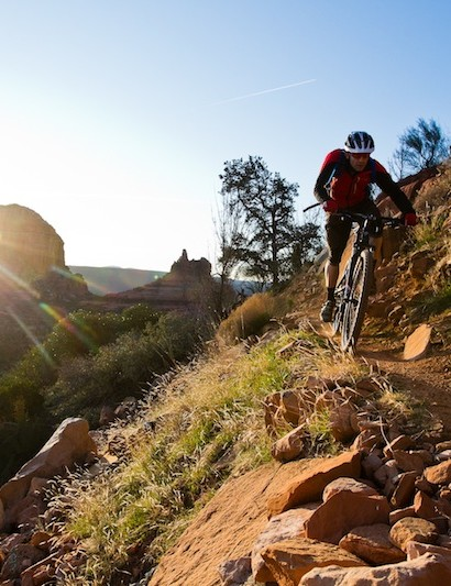 Big wheels rolling on Sedona's ribbons of singletrack