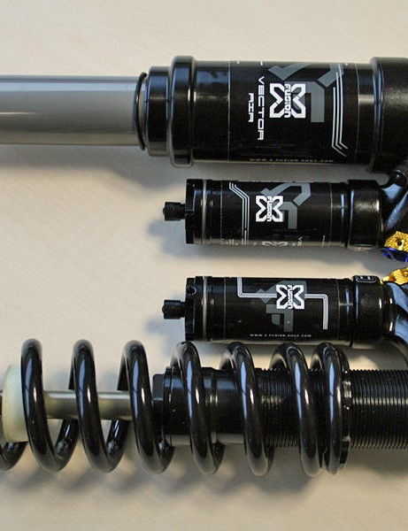 X-Fusion's air and coil-over Vector downhill shocks