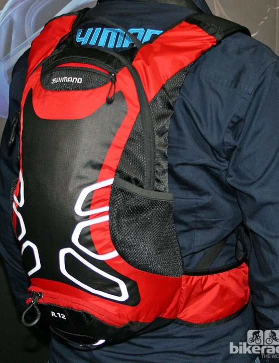 The £50 ROKKO is a lightweight 12l daypack that's hydration-ready but doesn't come with a bladder (Shimano-branded reservoirs will be available separately)