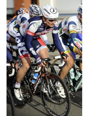 Andrei Greipel (Omega Pharma-Quickstep) in the thick of things during K-B-K