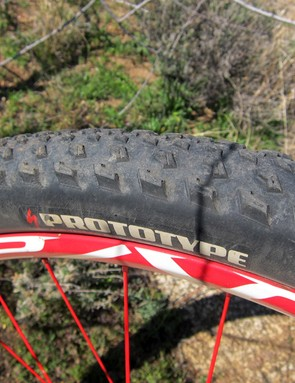 These tires are marked as 'prototype' but the tread design has now been made into the standard Specialized Fast Trak model