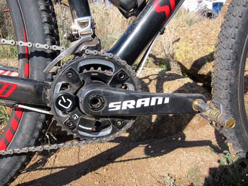 Rusch says the weight penalty on the Quarq SRAM S2275 BB30 power meter is so minimal that she has no issues running it for both training and racing