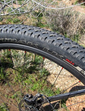 Rusch says she opted for the second-tier 'Control'-level tires instead of the lighter S-Works model given the Arizona desert's abundance of rocks and cactus needles