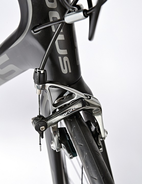 SRAM Force brings you safely to a stop