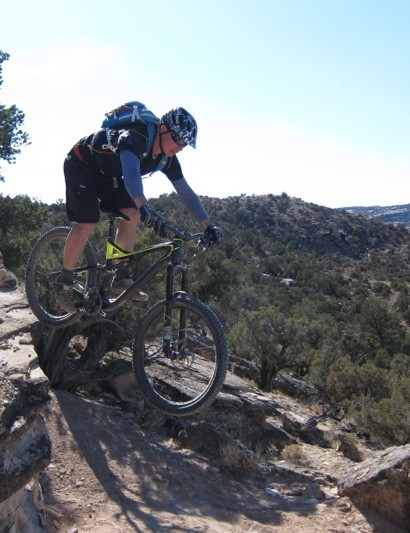 Kyle Mears of Acme Bike Shuttle in Moab, UT plans to keep the fast guy honest, his advantage: local knowledge