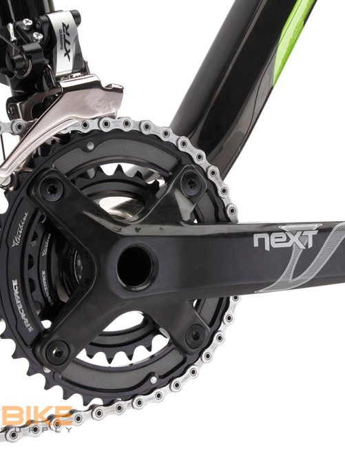 Niner use Race Face's Next carbon 2x10 crank to save some weight