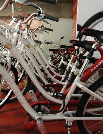 Local Bicycle Racks' 4-bike rack in use