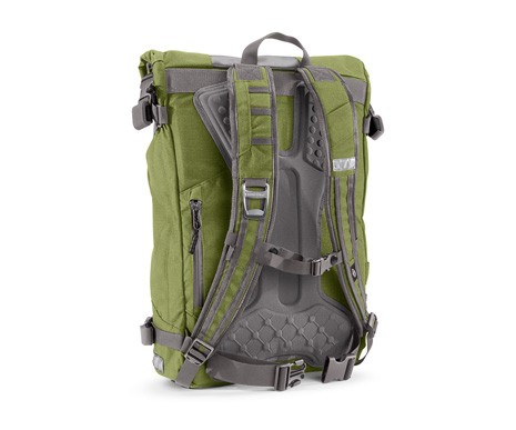 Backbender molded back panels on all of Timbuk2's new Especial series bags are designed to cushion loads
