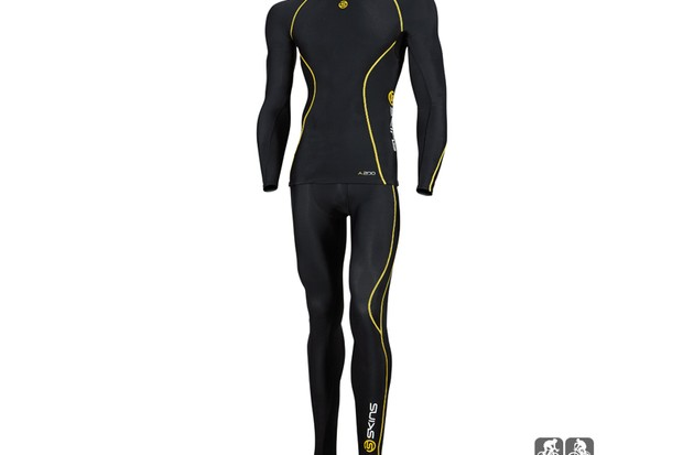 Skins A200 long-sleeve compression top and tights