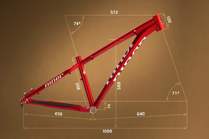 Metrics for the new XS E.M.D. 9, which is the smallest model Niner have made to date
