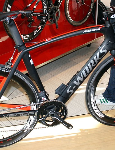 The S-Works McLaren Venge arrived in a whirl of hype almost 12 months ago, with the British motor company using their carbon fibre expertise to tweak the 'standard' Venge that Specialized brought to them. At £12,500, it won't be for everyone. Just as well too, because not everyone is going to get one. Only around 40 frames have been built for the UK market and every last one has been snapped up (even the one shown here is reserved). Despite McLaren agreeing to a five-year partnership with the American firm, that's it as far as the McLaren Venge is concerned. Future projects are in the pipeline though, such as the 'Project Black' Tarmac aiming to make improvements to the SL4