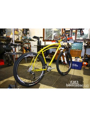 Curtis Inglis built this Retrotec for the show but once NAHBS wraps up for the year, this will become his personal bike