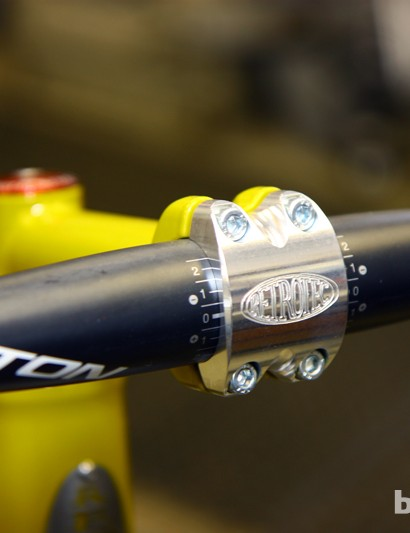 Other stems may be lighter but the machined logo on this custom stem adds a bit of flair