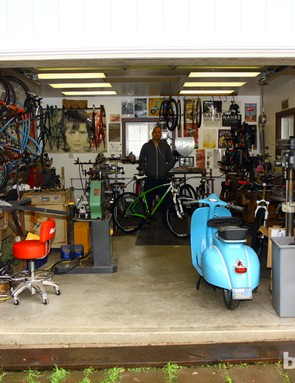 Curtis Inglis operates his Retrotec and Inglis bike brands out of his garage shop in Napa, California