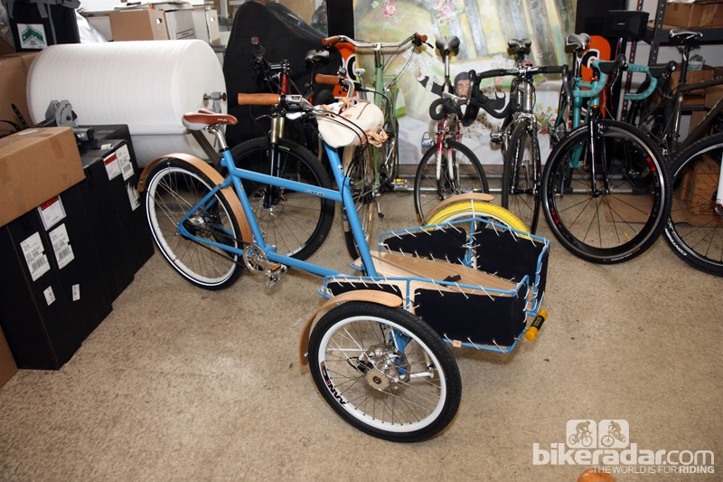 Sycip will display this gorgeous cargo trike at this year's North American Handmade Bicycle Show
