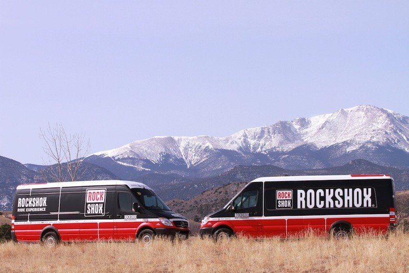 SRAM will run two Sprinter vans for their RockShox Ride Experience demo this season