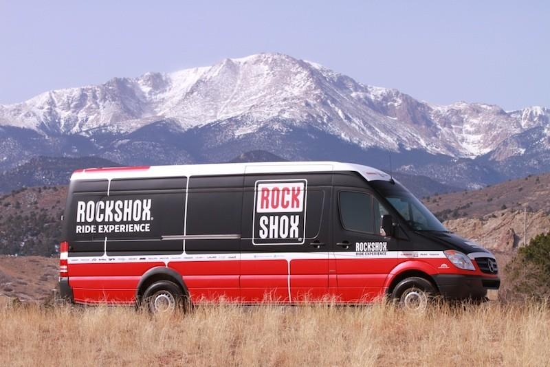 SRAM's RockShox Ride Experience demo van