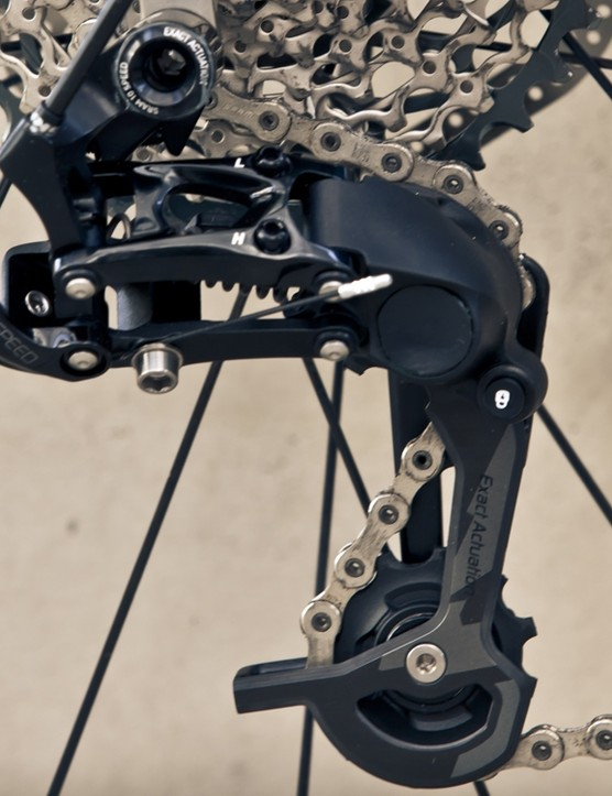 SRAM have unveiled their new Type 2 X0 and X9 rear derailleurs, equipped with roller bearing clutches in the lower knuckle to combat excess cage and chain movement
