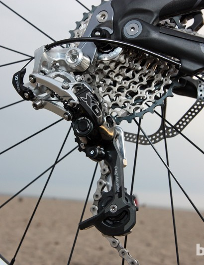 Instead of equipping the roller clutch mechanism with an on-off switch, SRAM have instead built a Cage Lock feature into the new Type 2 derailleurs, which locks the pulley cage forward and removes chain tension for easier wheel removal