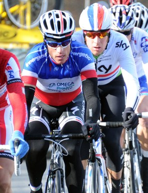 Wiggins kept himself out of trouble during stage 2 and was able to make the key breakaway of the day