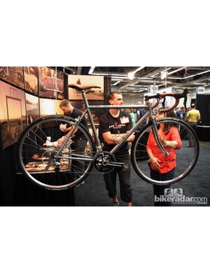 This is perhaps the most conventional machine we've seen from Naked at NAHBS but it's no less stunning to look at