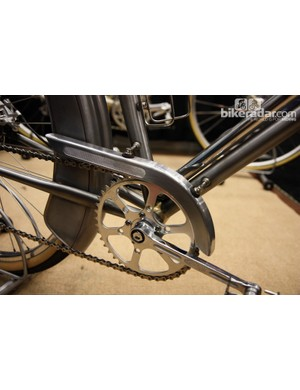 There were no flimsy chain guard mounts to be found at NAHBS. MAP Bicycles uses a stout two-point system here