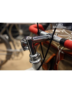 The bell is built into the side of a nicely fillet brazed stem on this MAP Bicycles 650b tourer