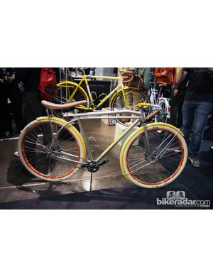 Yipsan Bicycles showed off this amazing cafe racer at NAHBS, inspired by an old Schwinn Stingray
