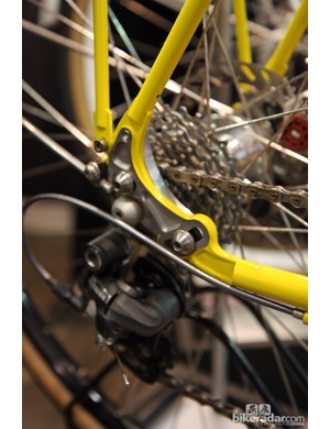 Pivoting rocker dropouts on this Yipsan 650b touring bike