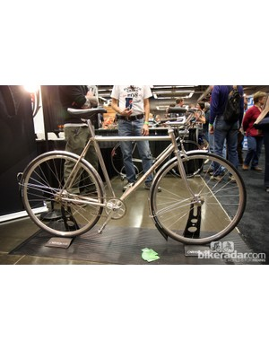Winter Bicycles showed off this elegant stainless steel runabout at NAHBS with polished fenders and an integrated front light
