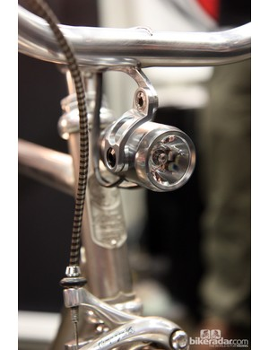 Check out the integrated light mount from Winter Bicycles. Note the internally routed wiring, too