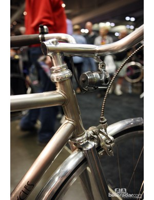 Nicely filed long-point, low-profile lugs on this Winter Bicycles machine