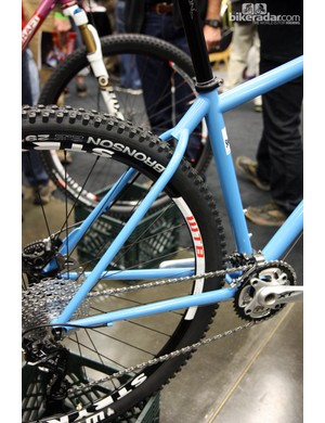 Soulcraft principal Sean Walling uses wishbone-style seat stays on his new Tradesman stock 29er hardtail to make it a bit easier to build