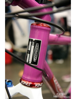 Small-batch builders haven't ignored trends in bicycle technology, as seen on this Soulcraft 44mm-diameter head tube