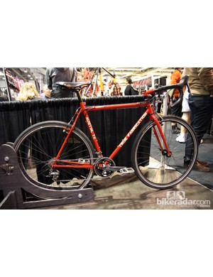 Austin, Texas based True Fabrications brought along this steel 'cross bike to NAHBS