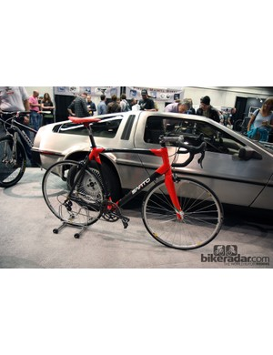 Italian framebuilder Sarto was making a big push at NAHBS with a small army of bikes - and yes, a real DeLorean