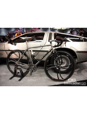 Why would Sarto bring a DeLorean to NAHBS, you ask? Well, to go along with the company's new stainless steel bikes, of course. Duh