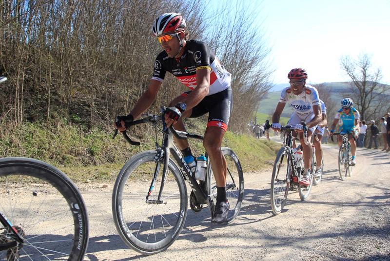 Trek debuted a new classics-specific bike at Strade Bianche under RadioShack-Nissan team rider Fabian Cancellara — he scored the win, too