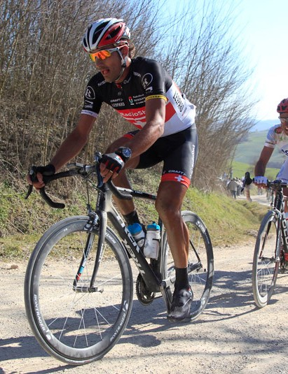 Trek debuted a new classics-specific bike at Strade Bianche under RadioShack-Nissan team rider Fabian Cancellara — he scored the win, too