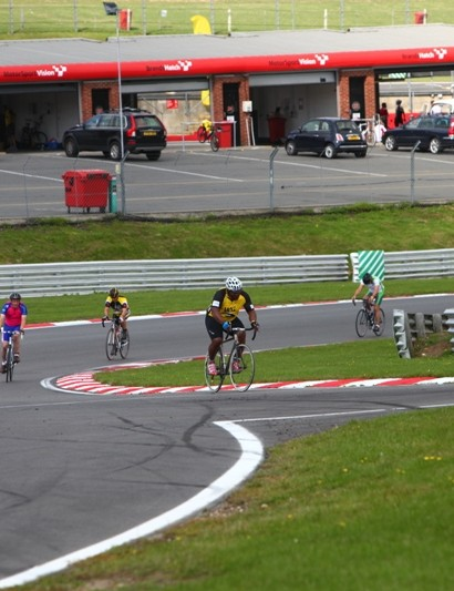 Victor Ubogu in action on the Brands Hatch circuit during last year's Cyclothon