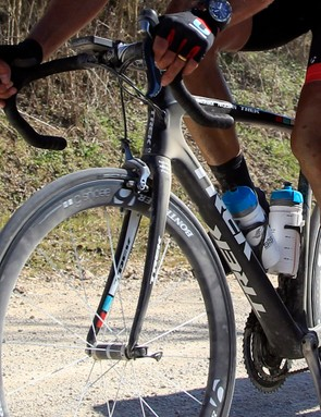 Cancellara's new bike sports ribs on the sides of the top tube and down tube
