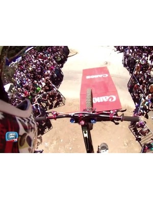 Gracia's POV footage from the Valparaiso Urban DH