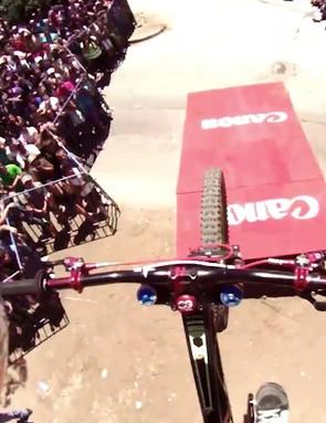Gracia's POV footage from the Valparaiso Urban DH