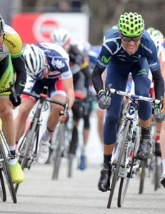 Alejandro Valverde (R) pips Simon Gerrans (L) to win stage 3 of Paris-Nice
