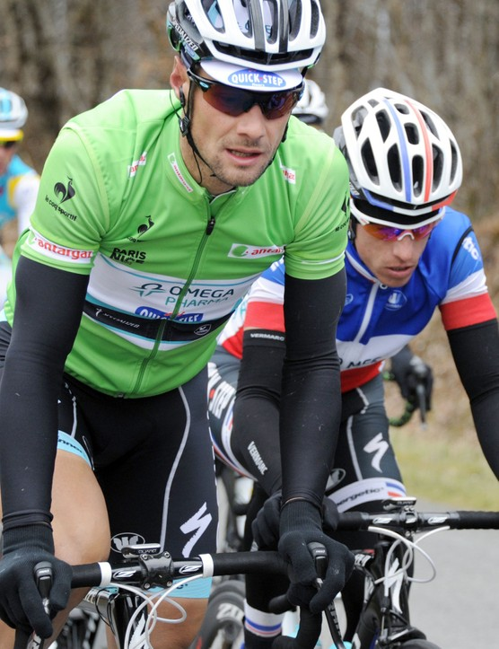 Tom Boonen enjoying being in the green points jersey