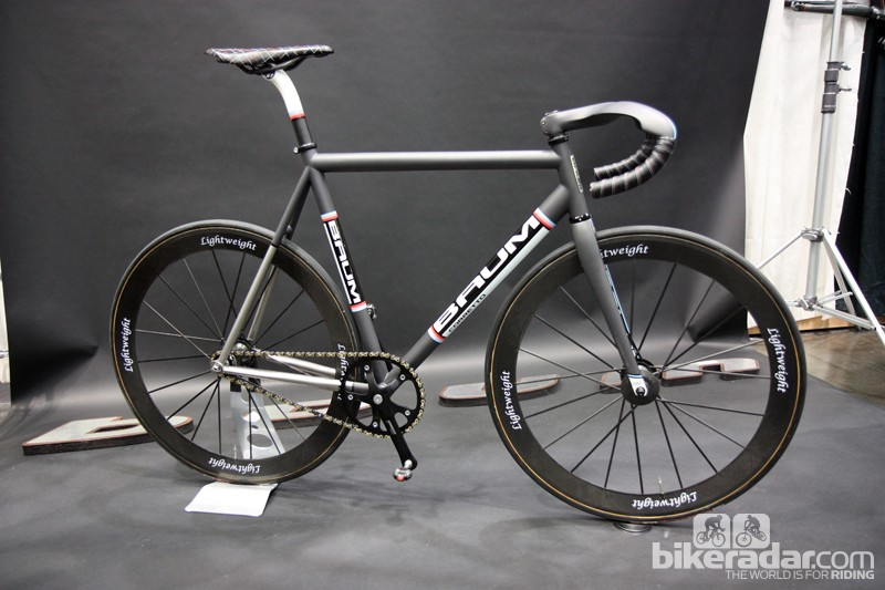 Baum Cycles displayed this jaw-dropping Corretto Pista titanium track bike at this year's NAHBS.