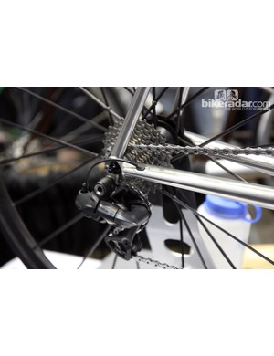 Internal Di2 wiring is optional on Baum Cycles' Ristretto steel road bike.